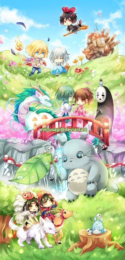 Studio Ghibli Bookmark by Evil-usagi on DeviantArt