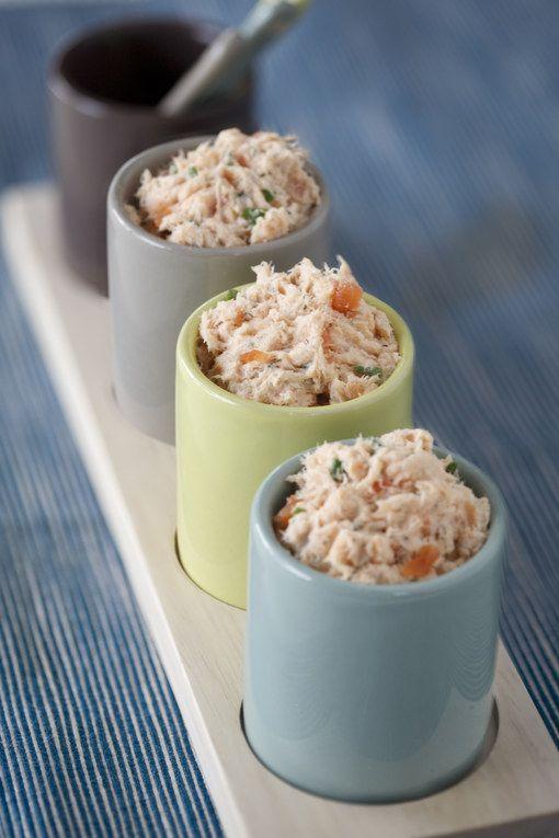 Rillettes aux 2 saumons, une super idée à tartiner pour un apéritif dînatoire.