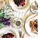 Bom Dia ☀️ com panquecas de final de semana 🍴😋💗 #cozinhatravessa #panqueca #cafedamanha #cacau #mirtilo #blueberry