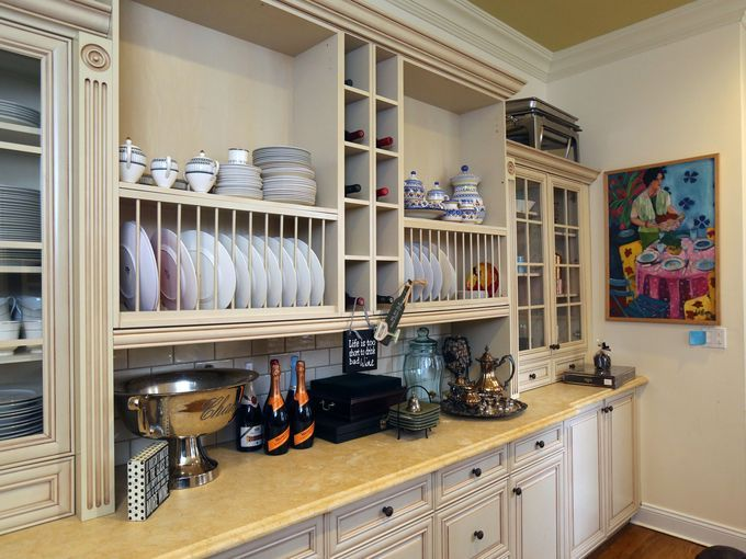 The butlers pantry in the 1920 Tudor home of Sunny Hostin