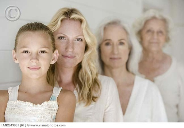 Four generations... Beautiful! Love women of all ages, shapes and sizes at Just Lovely
