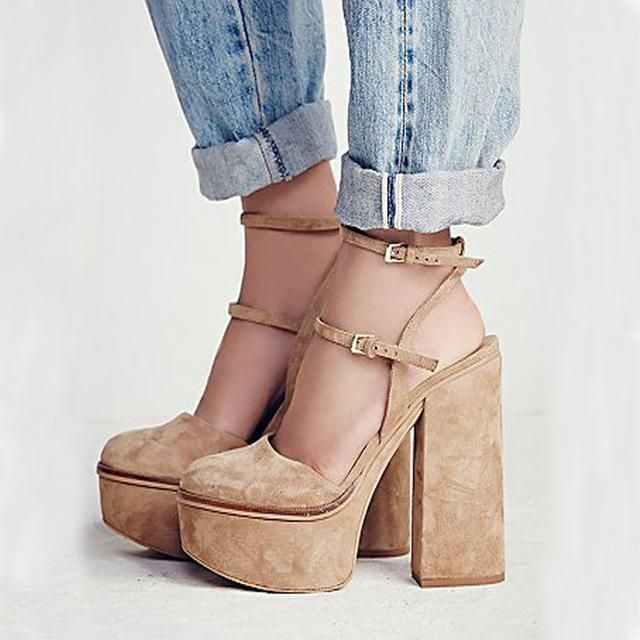 e22f48c63def Sestito Woman Sexy Thick Platform 2 Straps Summer Gladiator Sandals Lady  Round Toe Square Thick High Heels Dress Slingback Shoes