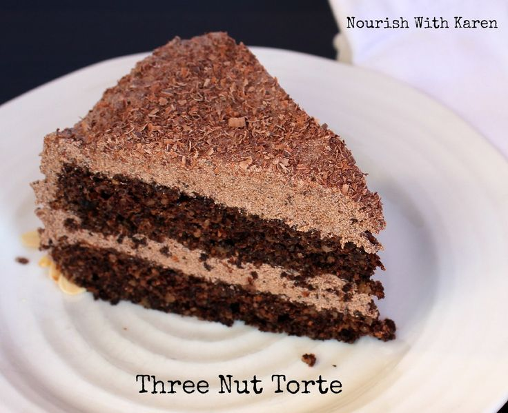 Three Nut Chocolate Torte — NOURISH