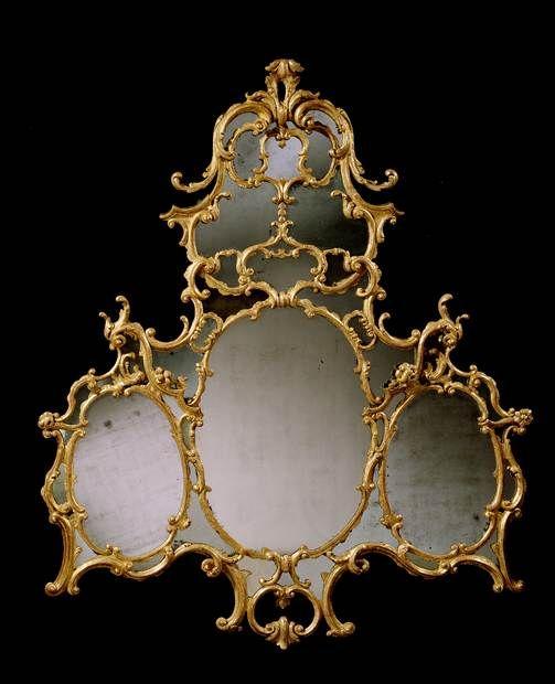 AN IRISH GEORGE III GILTWOOD OVERMANTEL MIRROR - English Antique Furniture – Ronald Phi...