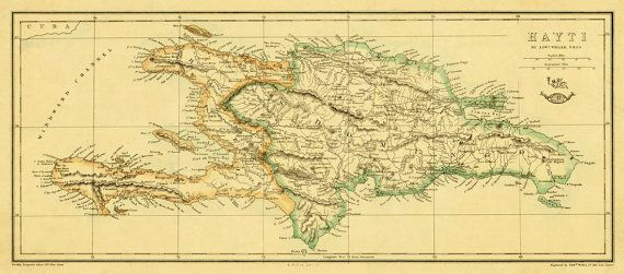 Hey, I found this really awesome Etsy listing at https://www.etsy.com/listing/168486067/vintage-map-of-haiti-old-map-print-14-x