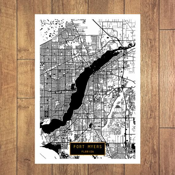 FORT MYERS Florida City Map Fort Myers Florida by JackTravelMap