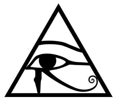 Egyptian Symbol Gallery: Eye of Horus within Triangle