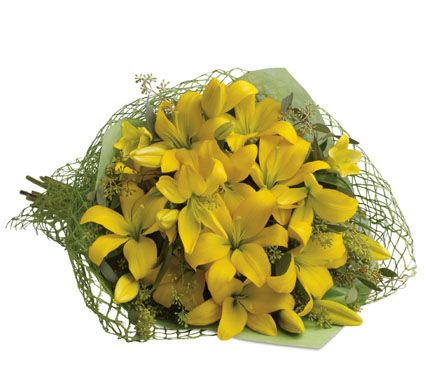 22 best yellow flowers images on pinterest send flowers bouquet b44 southern sunshine this glorious gathering of golden lilies is guaranteed to turn anyones day sympathy flowerssend flowersbouquet of flowersyellow mightylinksfo