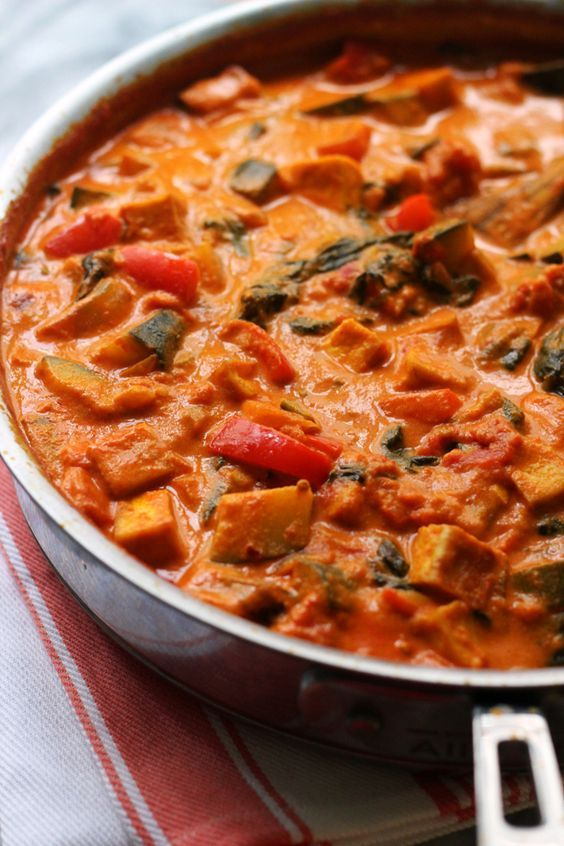 Tikka Masala with Tofu and Vegetables