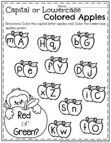 March Preschool Worksheets - Upper or Lowercase Letters