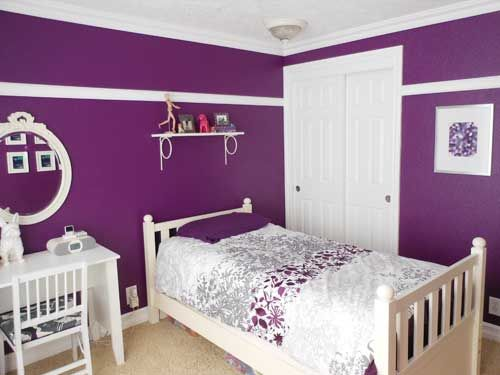 A Teen Room Remodel: Before & After. Purple Bedroom DesignBedroom  DesignsPurple ...
