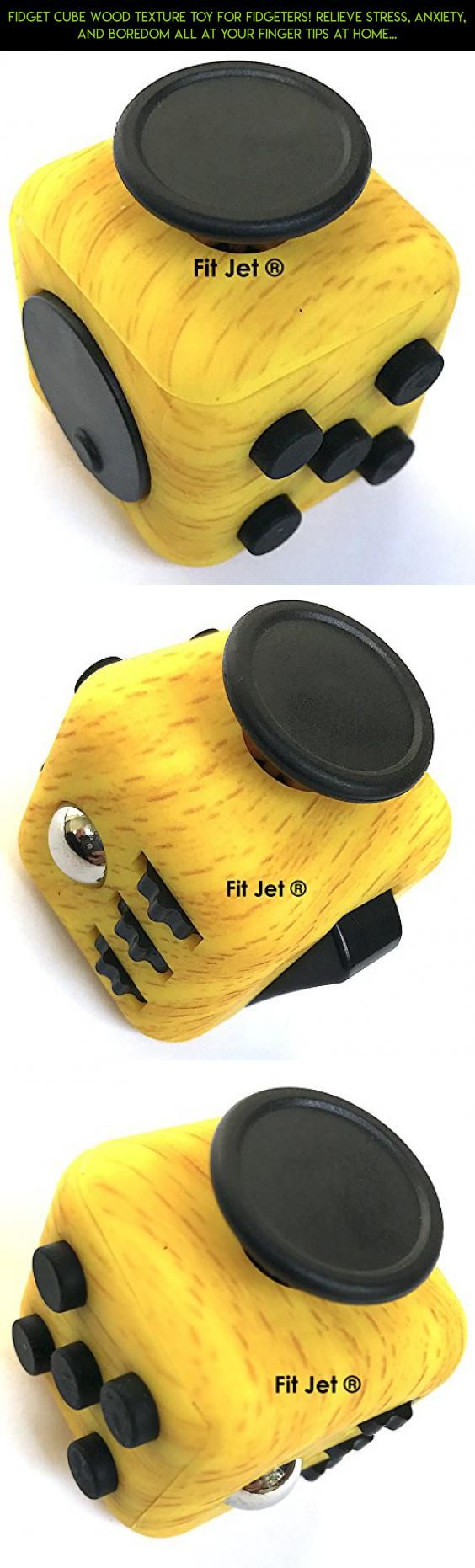 Elegant Fidget Cube WOOD Texture Toy for Fidgeters Relieve Stress Anxiety and Boredom all