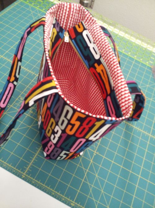 Some of you have made one of our totes using a magnetic snap for the closure in class. Would you like to make the tote with a recessed zipper as the closure? Here's how! 1) Measure the finished...
