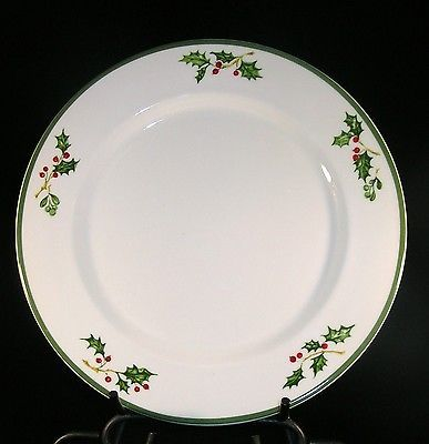 "Christopher Radko Traditions Holiday Celebrations 11"" Christmas Dinner Plates"
