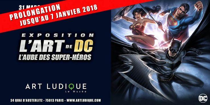 L'Art de DC - L'Aube des Super-Héros, l'exposition prolongée chez Art Ludique-Le Musée  https://www.ligneclaire.info/aube-des-super-heros-55816.html