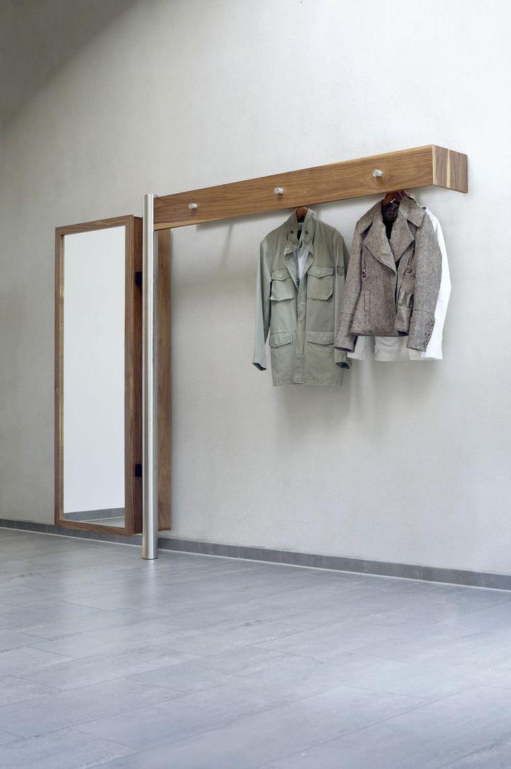 best  wall mounted coat rack ideas on pinterest  coat hooks  - wallmounted coat rack  contemporary  in wood  stainless steel flurmöbel art