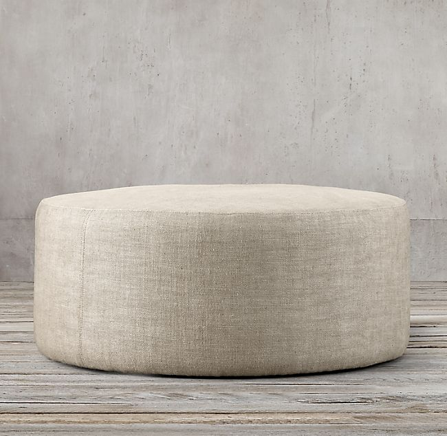 36 Cooper Round Ottoman With Images Round Ottoman Upholstered Ottoman Coffee Table Ottoman In Living Room