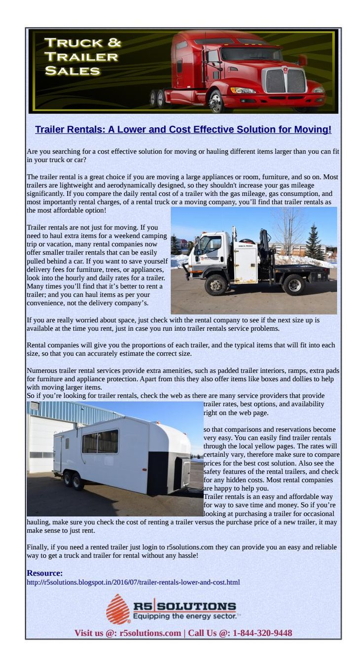 Truck and trailer rental easy and affordable solution for moving