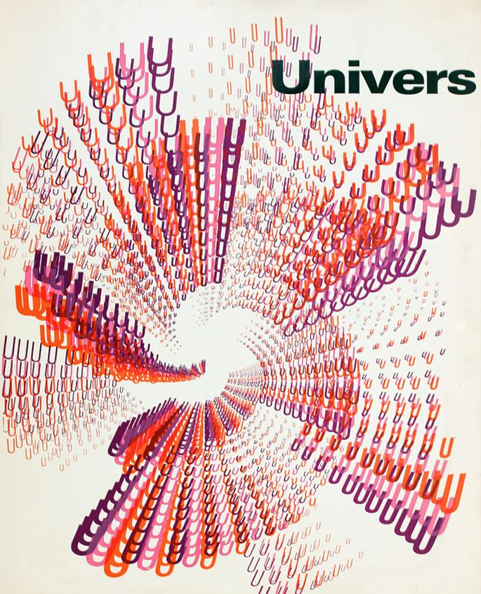 Cover for Adrian Frutiger's Univers typeface brochure by Rémy Peignot 1960