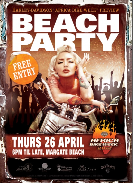 Africa Bike Week 2012 Beach Party 26 april FREE entry! Whoop! #HarleyDavidson