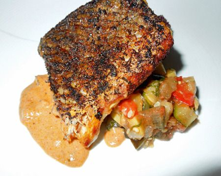 Blackened Redfish. This blackened redfish recipe is simple to prepare, delicious, and takes just minutes to prepare. Save any leftover seasoning for the next time you want to bring a little Louisiana flavor to grilled fish or chicken. If you can't find redfish, try substituting another fairly dense, mild-flavored fish such as black drum or corvina. Enjoy!