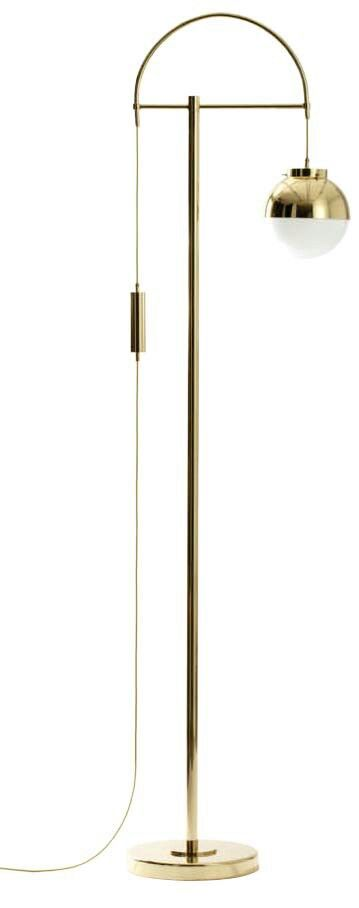 brass floor lamp.