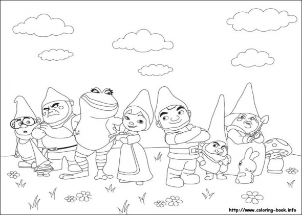 gnomeo and juliet coloring pages google search