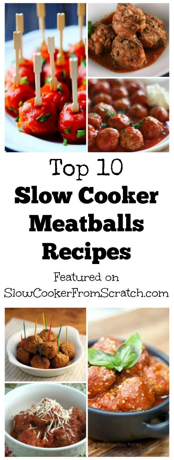 Everyone loves meatballs in the slow cooker, and here are the Top Ten Slow Cooker Meatballs Recipes from Slow Cooker from Scratch!  [found on SlowCookerFromScratch.com]
