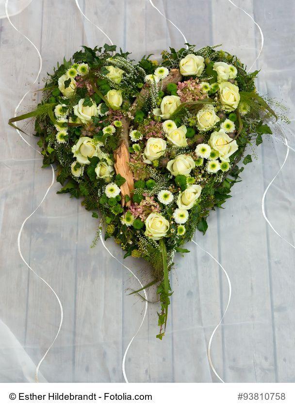 Auto Herz 40 Cm Blumen Gesteck Autoschmuck Hochzeit Steckschaum