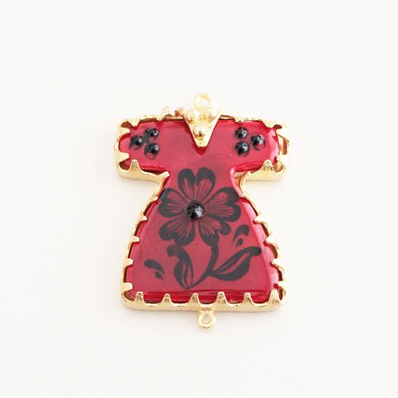 Caftan Kaftan Red Ceramic Turkish Tile Hand Painted by Vanilleecom