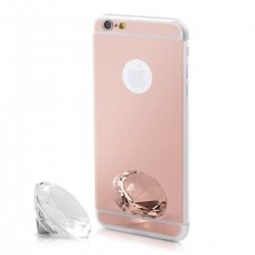 ΘΗΚΗ ΓΙΑ iPhone 6 plus / 6s plus ΣΙΛΙΚΟΝΗΣ ΚΑΘΡΕΦΤΗΣ ΡΟΖ Silicone Case Mirror Pink