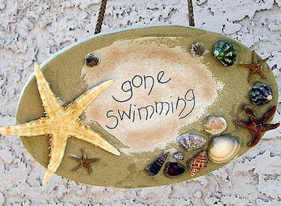 beach house: Beaches, Beach Craft, Beach House, Seashell Candle, Beach Decor, Clay Pot, Beach Plaque, Crafts