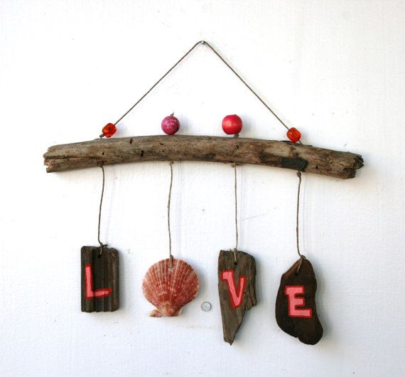 LOVE Driftwood Art for Valentine's Day by PeaceLoveDriftwood, $22.00