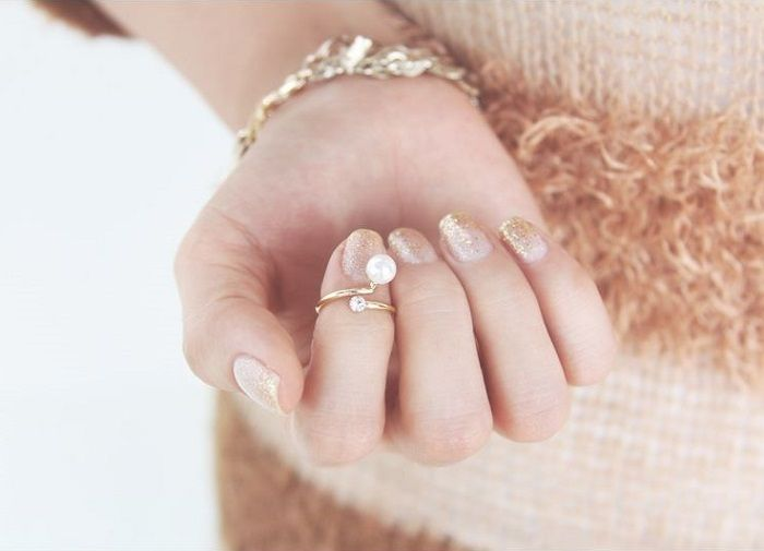 [Kitsch Island] Simple Knuckle Ring With Pearl