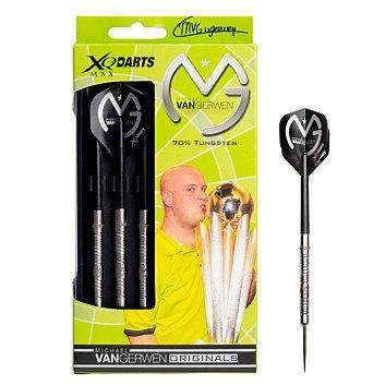 MVG 70% Tungsten Darts - $59.99 at Rebel Sport - http://www.rebelsport.co.nz/games-and-accessories/darts/michael-van-gerwen-tungsten-dart-set-8087616