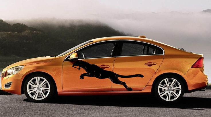 Panther in a jump animals beauty decor car vinyl side graphics kj2632