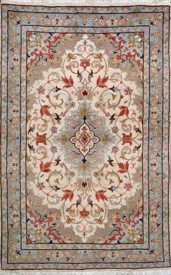 "Tabriz Persian Rug, Buy Handmade Tabriz Persian Rug 3' 3"" x 5' 2"", Authentic Persian Rug"