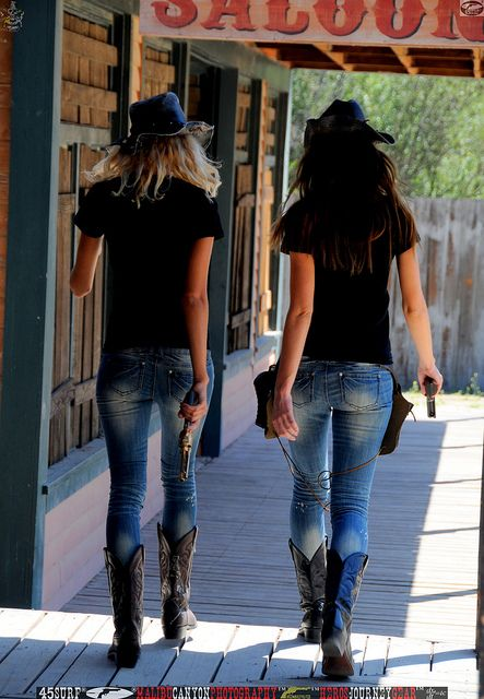 Two Cowgirl Models | CowGirls | Girl guns, Guns, Hot ...