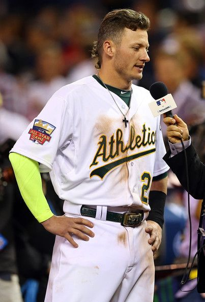 Josh Donaldson Photos - American League All-Star Josh Donaldson #20 of the Oakland Athletics is interviewed following a 5-3 victory over the National League All-Stars during the 85th MLB All-Star Game at Target Field on July 15, 2014 in Minneapolis, Minnesota. - 85th MLB All Star Game