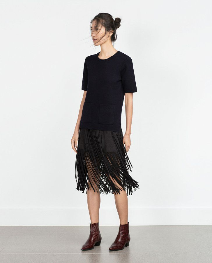 Pin for Later: The 22 Most Amazing Things at Zara Right Now — All Under $200  Fringed Skirt ($70)