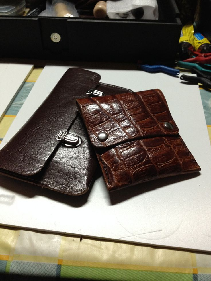 Leather purse for phone cables