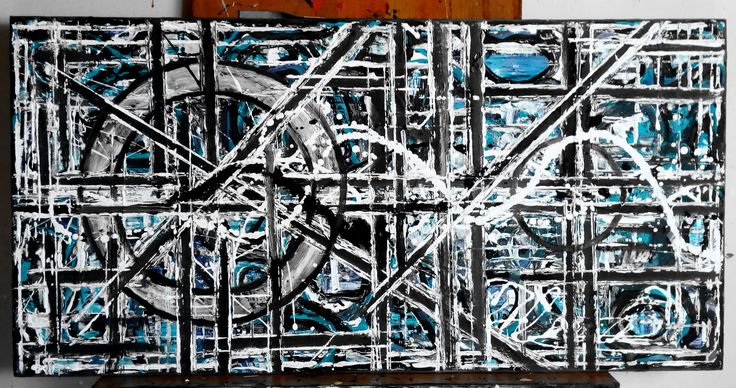 Nr.221.Abstract painting [The Last Circle Virgin]- D-[100x50]