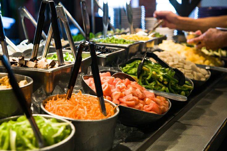 all you can eat Mongolian bbq, NOT by the bowl. Pick your favorite meats, noodles, veggies and sauces on a buffet type table and watch as they cook your food on a heated drum with wooden sticks.