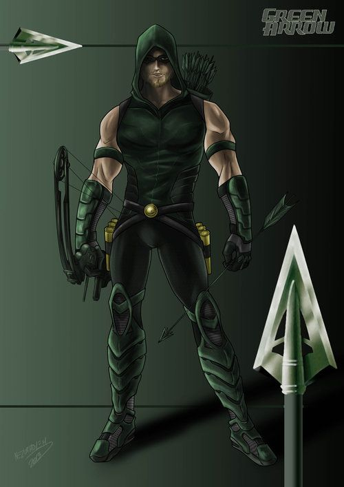 Green Arrow by Romain Brun- He's not one of my favorites, but I think Adam would make a great Green Arrow