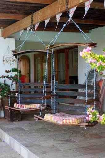 Reuse Wine Barrels Back Yard Swing Ideas Backyard