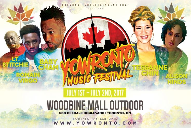 119 Days Of @YOWronto Music Festival PreEvent Celebrations + Join @Tessanne @AlisonHinds @TheCham On Canada Day