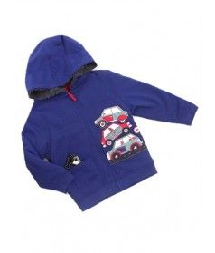 Boys Hooded Fleece with Cars Motif Sizes 2-3, 3-4, 4-5 years. Only £7.99