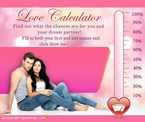 Check how compatible your are with your special someone by trying this love calculator.