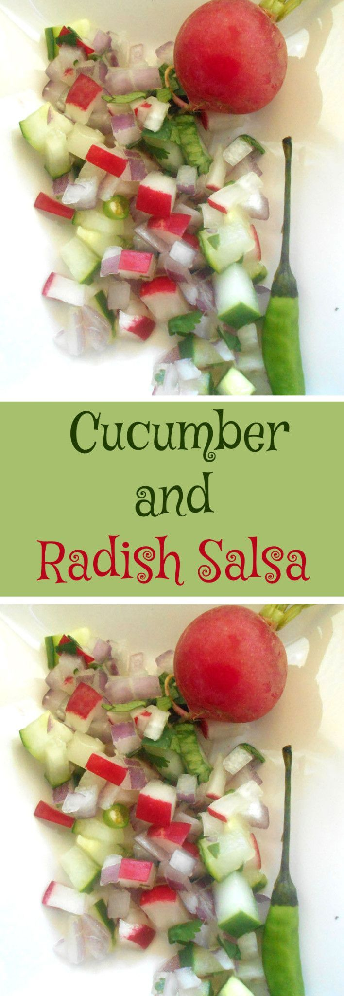 Crunchy cucumber salsa made with radishes and onions. Perfect tailgating snack for any game day gathering. Comfort food that also happens to be healthy and lo carb