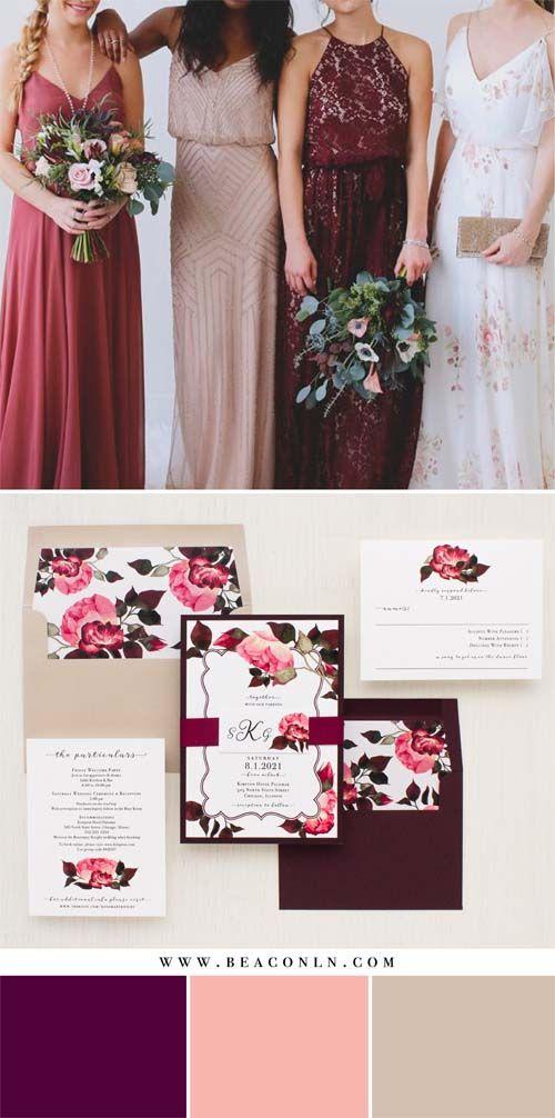 best price wedding invitations%0A Burgundy Rose Wedding Invitations